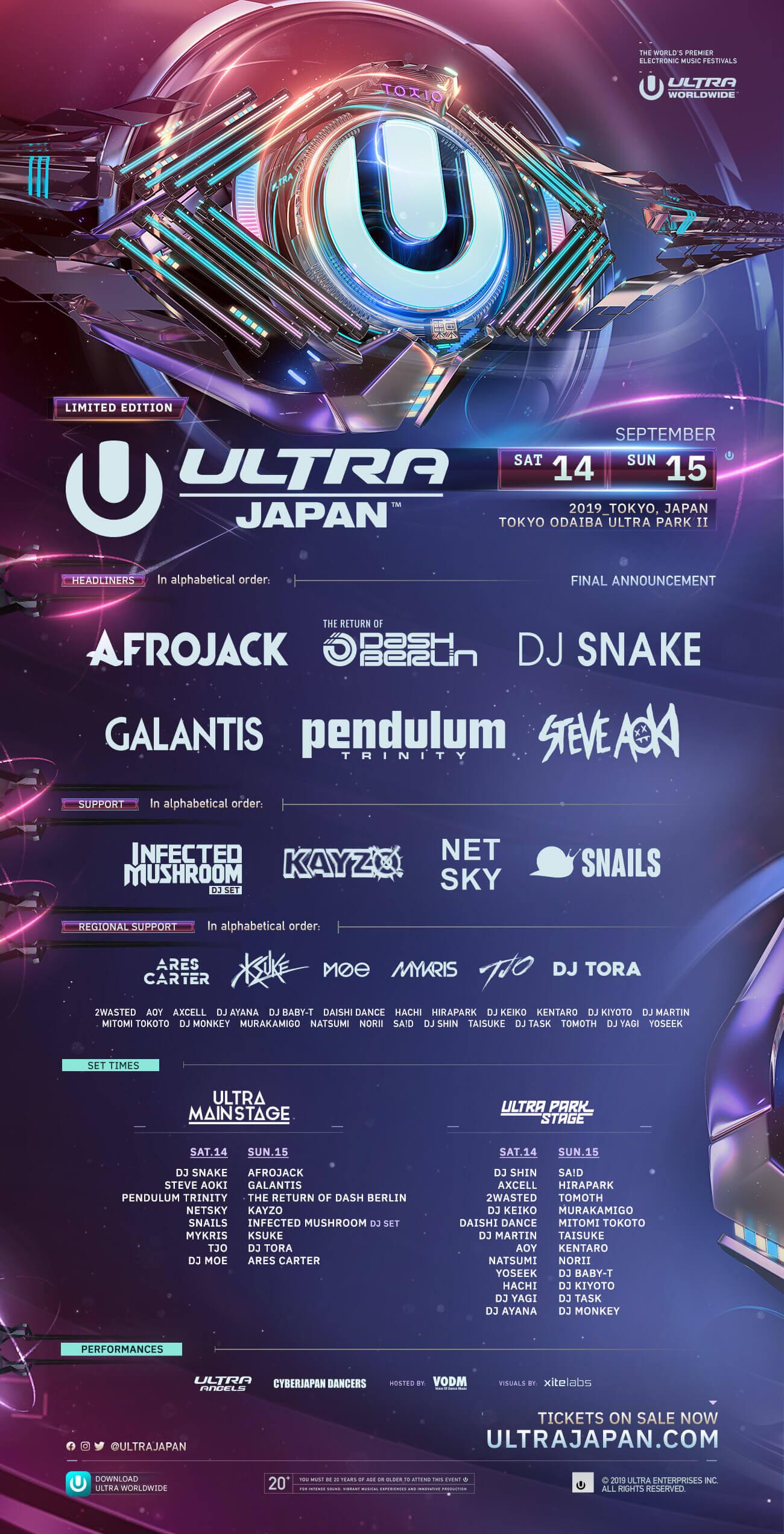 Lineup - Ultra Japan